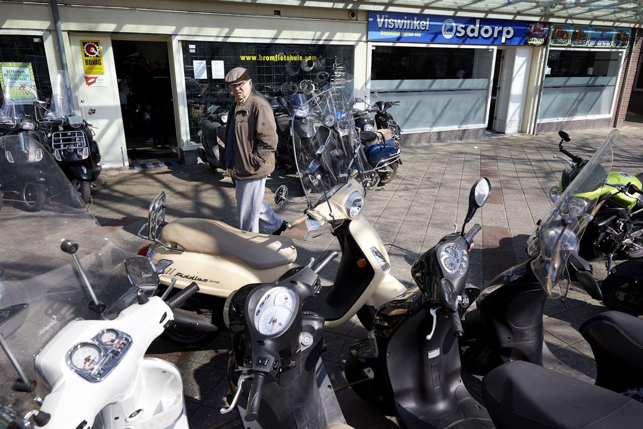 De grootste toename van het aantal scooter- en brommerdiefstallen is te zien in de grote steden.