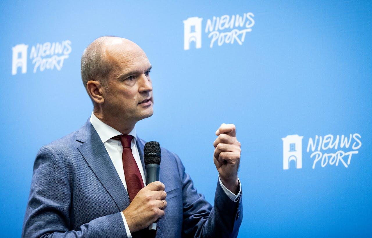 ChristenUnie-leider Gert-Jan Segers tijdens de lancering van het manifest 'Aandacht Voor Wat Echt Telt'.
