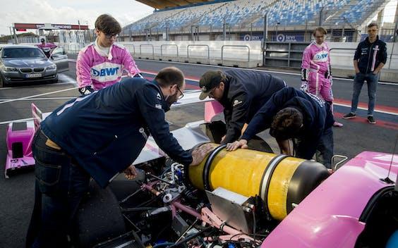 Raceauto op waterstof