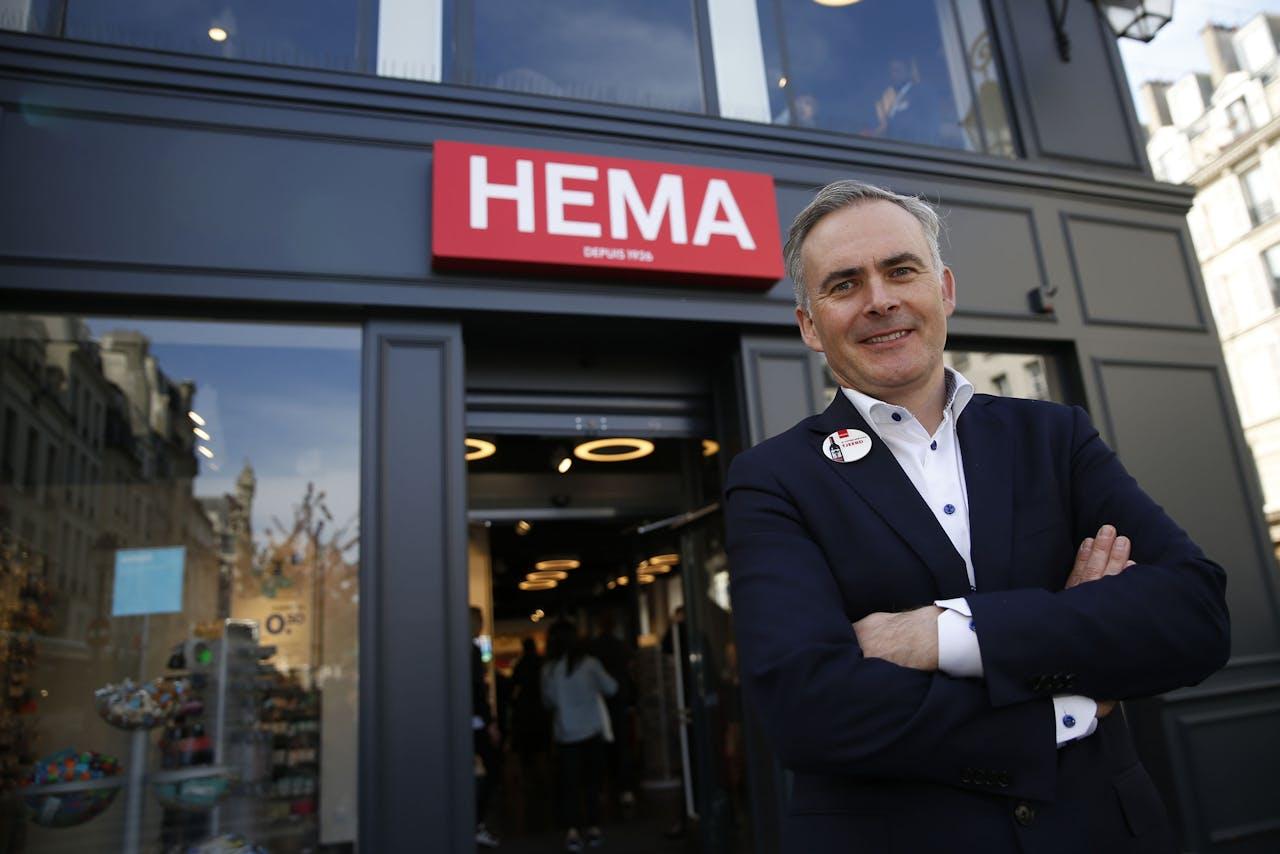 Tjeerd Jegen, CEO of Hema, poses in Paris on April 20, 2016. THOMAS SAMSON / AFP (Photo by THOMAS SAMSON / AFP)