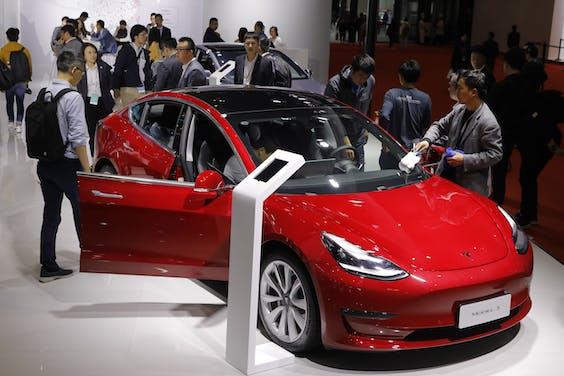 In 2019 zijn rond 30.000 Tesla's Model 3 verkocht in Nederland (cijfers: BOVAG)