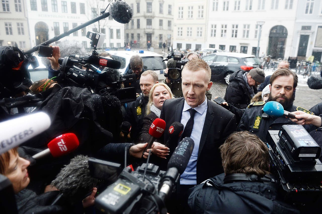 Aanklager Jakob Buch-Jepsen komt aan bij de rechtbank in Kopenhagen