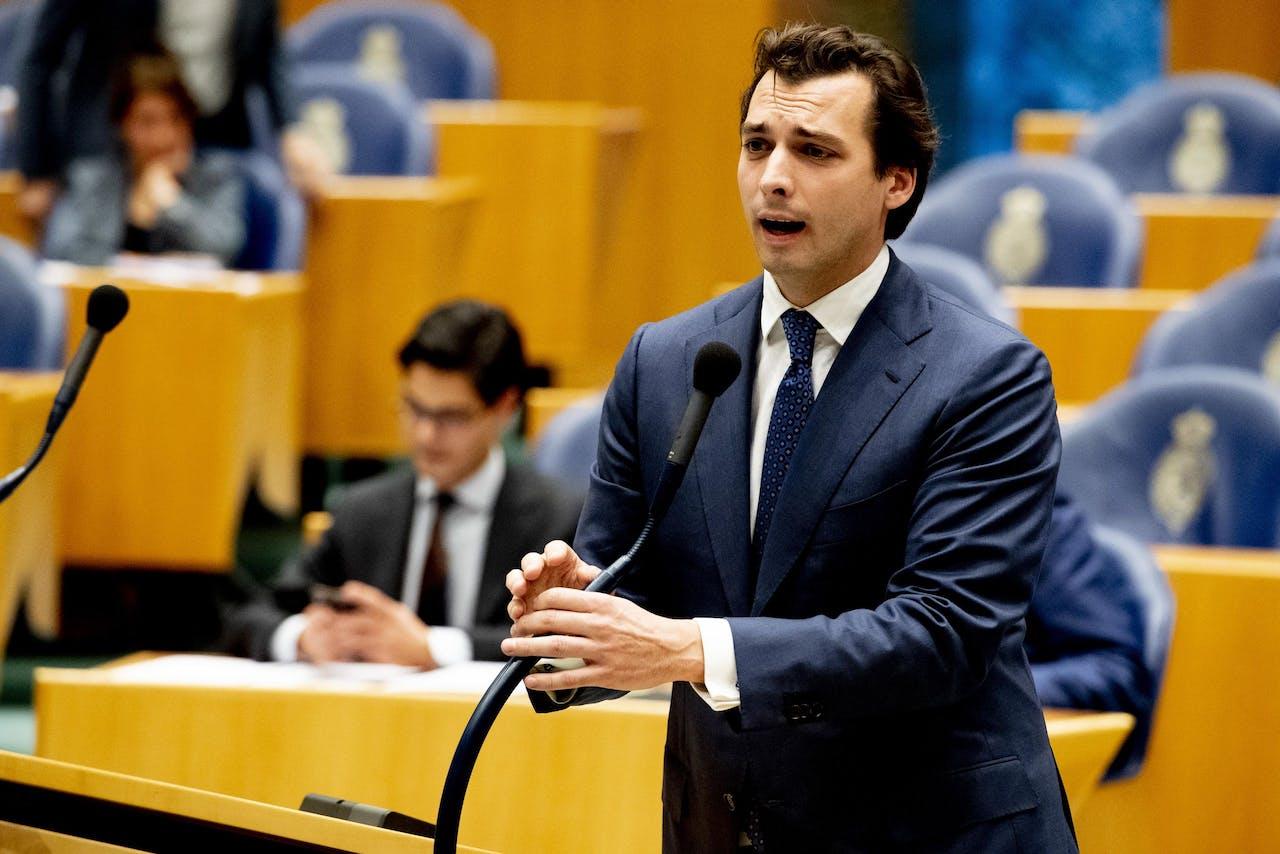 DEN HAAG - Thierry Baudet tijdens het Tweede Kamerdebat over het Klimaatakkoord. ANP ROBIN UTRECHT