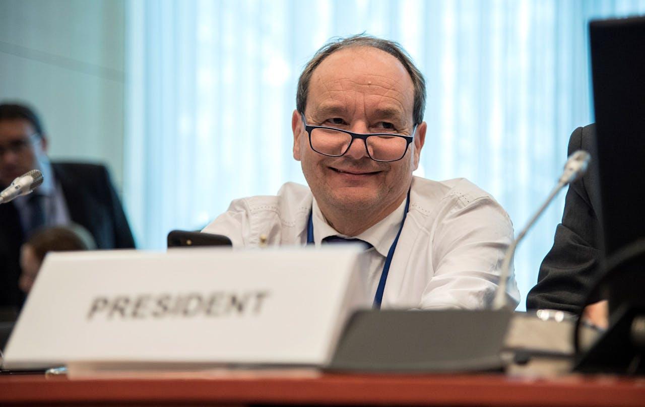 Voorzitter Hans Vijlbrief van de Eurogroep Werkgroep