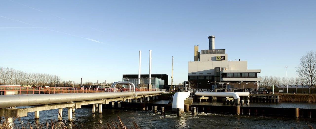 Energiecentrale van Vattenfall bij Diemen