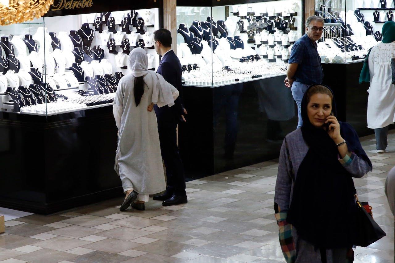 Een markt in Teheran.