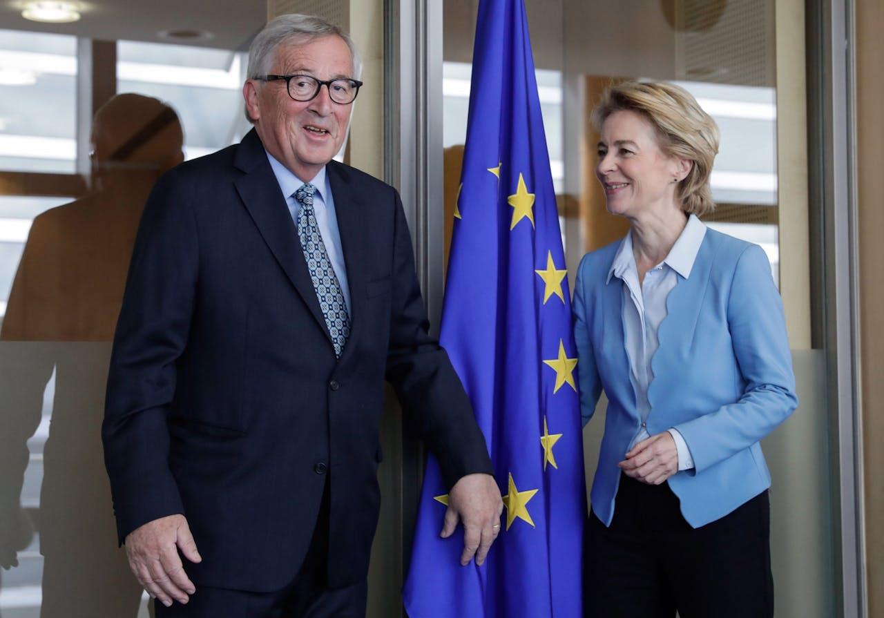 Jean-Claude Juncker met aanstaand Commissie-voorzitter Ursula von der Leyen
