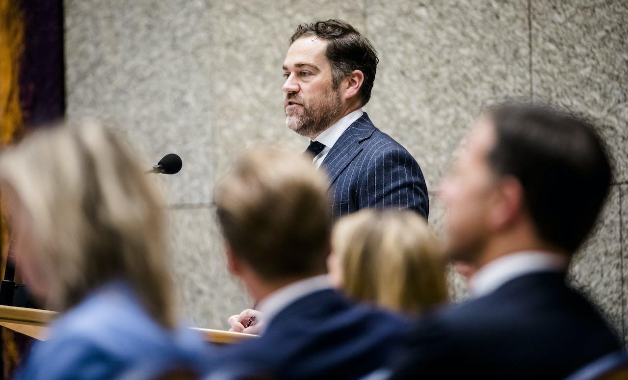 Klaas Dijkhoff (VVD) tijdens de Algemene Politieke Beschouwingen