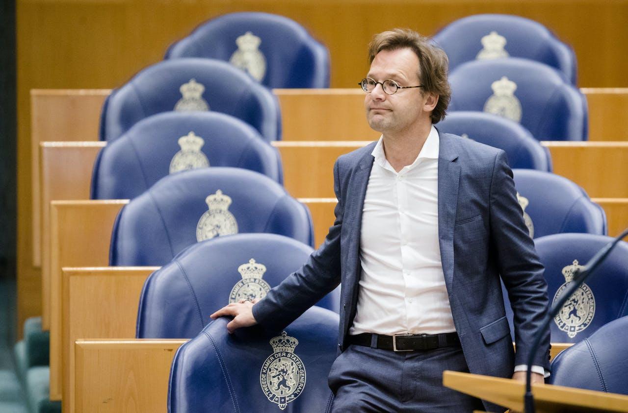 2018-10-10 11:14:50 DEN HAAG - Ronald van Raak (SP) tijdens de behandeling van de begroting van de koning en Algemene Zaken in de plenaire zaal van de Tweede Kamer. ANP BART MAAT