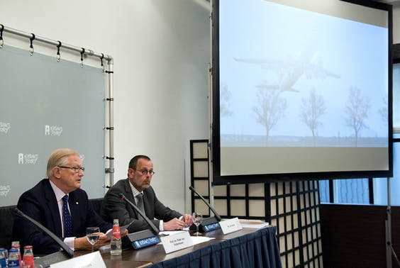De presentatie van het rapport over de vliegramp met het toestel van Turkish Airlines.