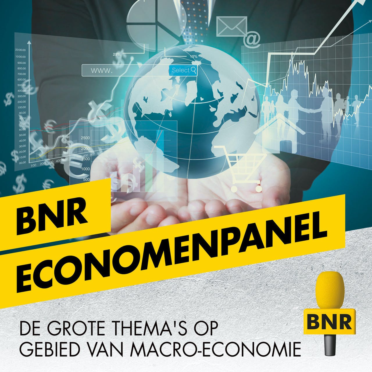 BNR radio vormgeving voor de losse programma's economenpanel