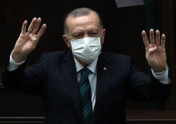 Turks president Recep Tayyip Erdogan (AK-partij)