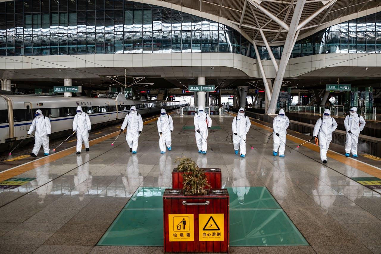 Het treinstation van Wuhan