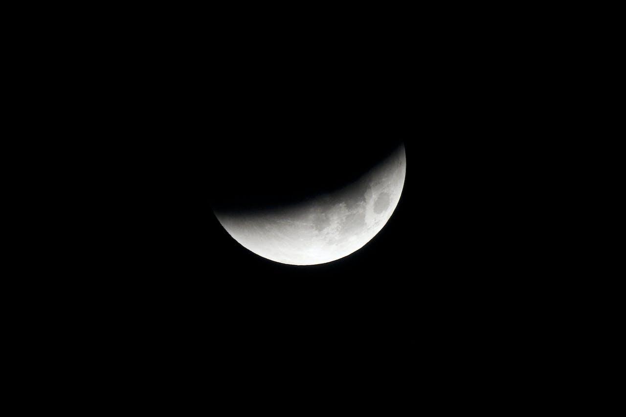 Een gedeeltelijke maansverduistering in 2015.