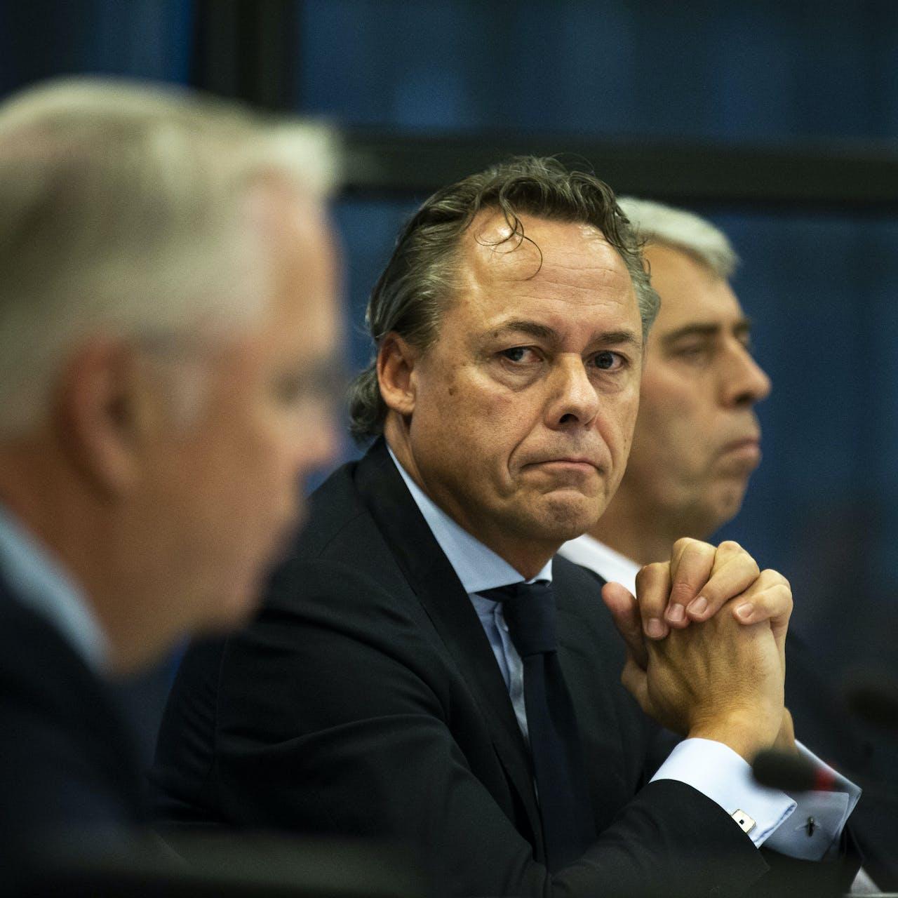 ING-topman Ralph Hamers bij een rondetafelgesprek in de Tweede Kamer over de stand van zaken in de financiele sector.