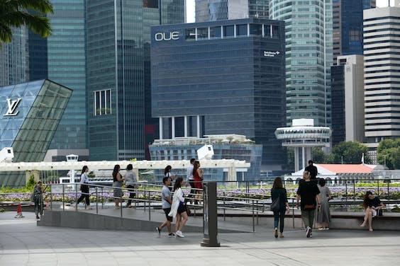 Het zakendistrict van Singapore