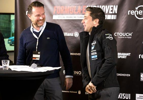 Peter Paul Laumans en Formule E-coureur Robin Frijns