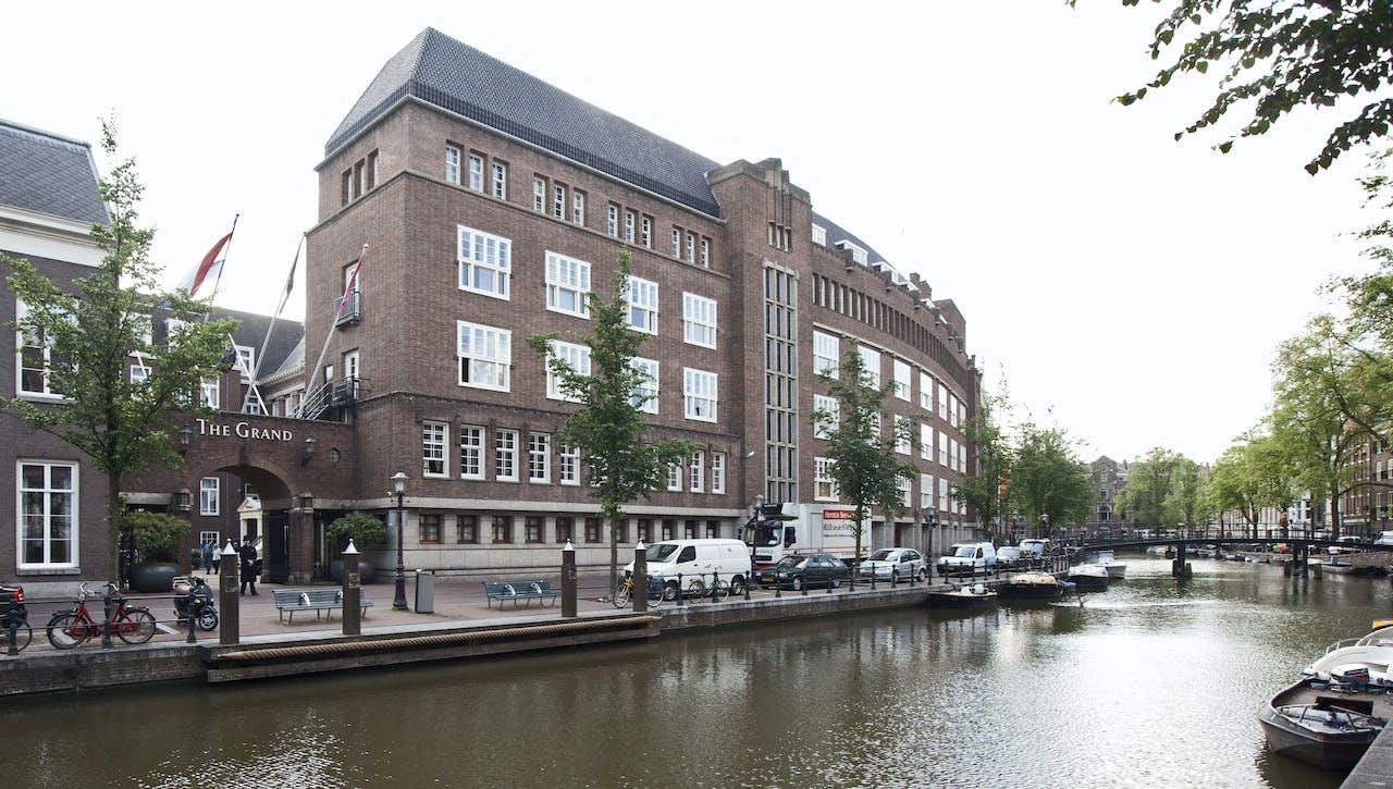 Het voormalige stadhuis in Amsterdam