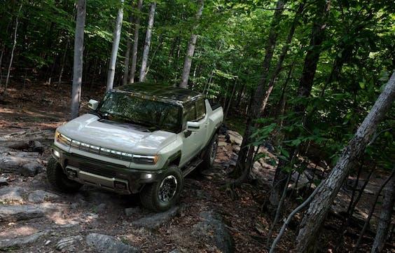 De Hummer nieuwe stijl: geen V8 dieselmotor meer, maar volledig elektrisch