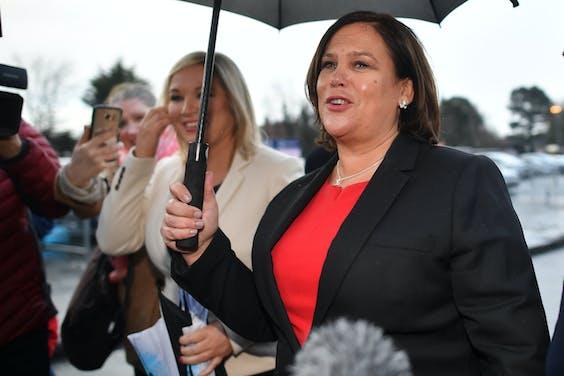 Partijleider Mary Lou McDonald van Sinn Féin
