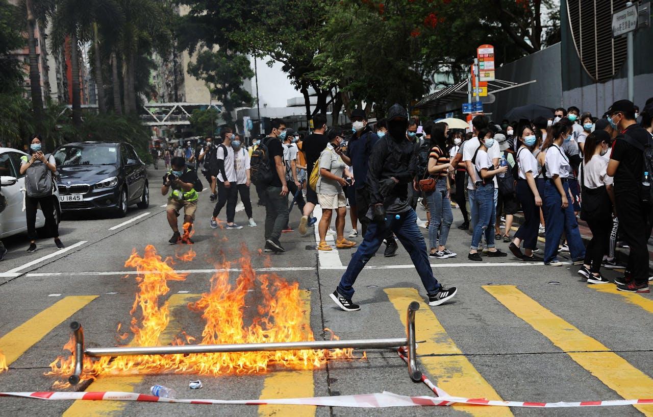 Protesten in Hong Kong vandaag