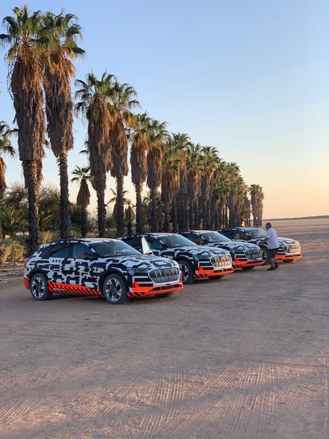 Audi's eTron in Namibië