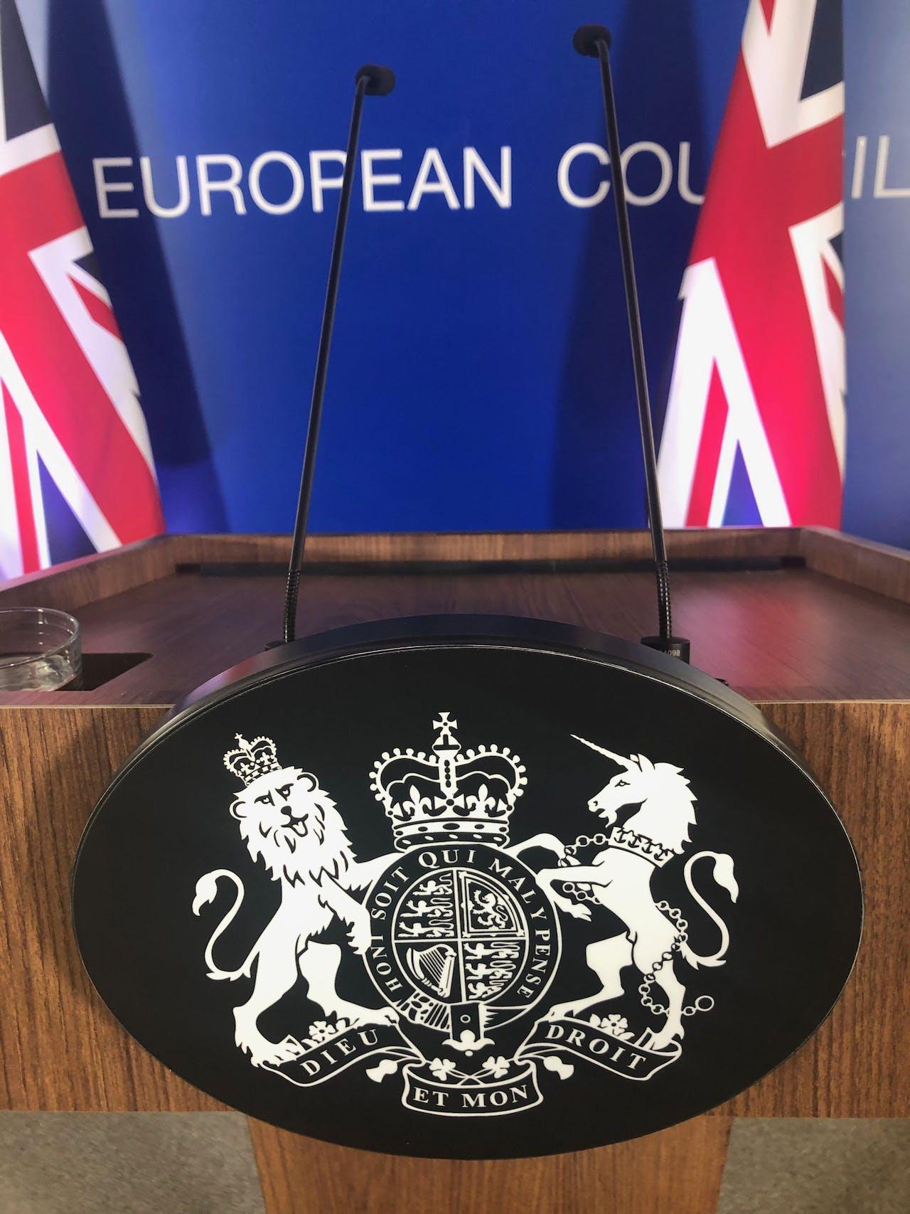 Mogelijk was er voor het laatst een Britse premier die achter dit spreekgestoelte in Brussel stond.