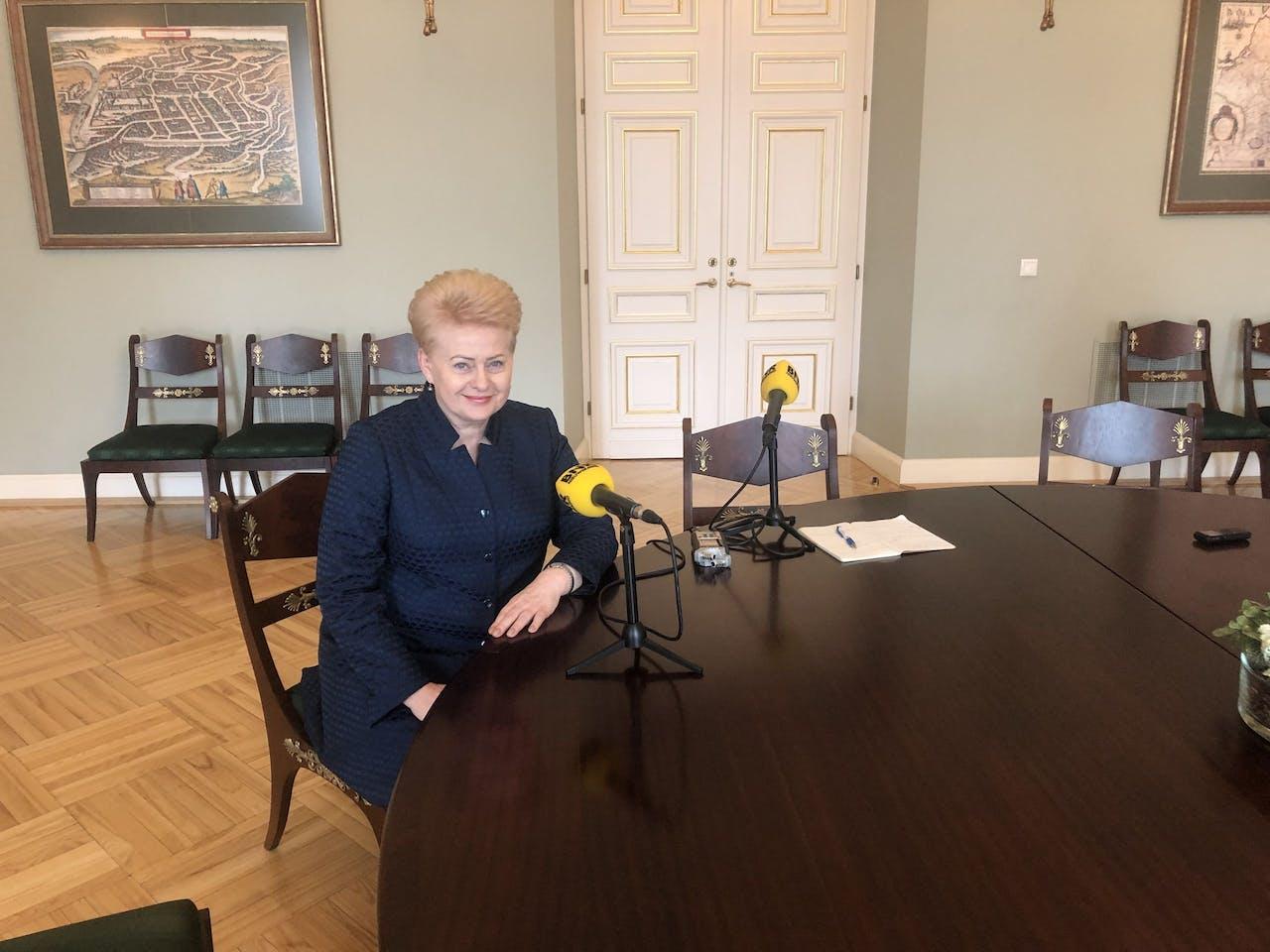 De Litouwse president Dalia Grybauskaite