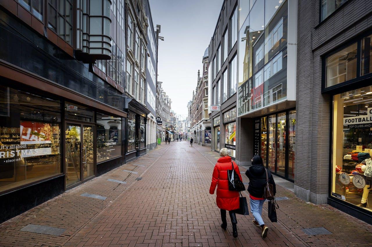 De Kalverstraat is ook aanzienlijk rustiger