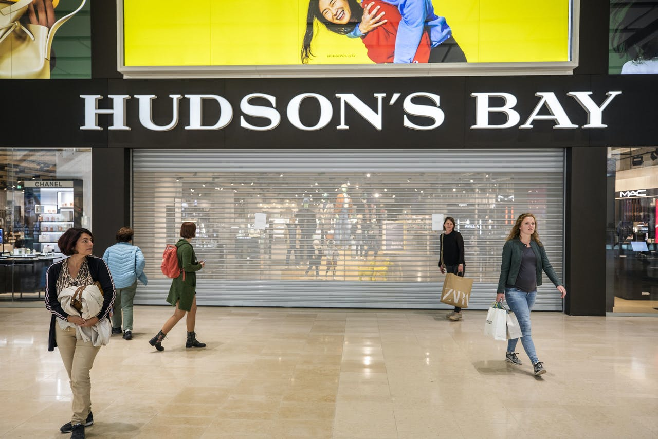 Het filiaal van Hudson's Bay in Utrecht is wegens een 'technisch mankement' gesloten.