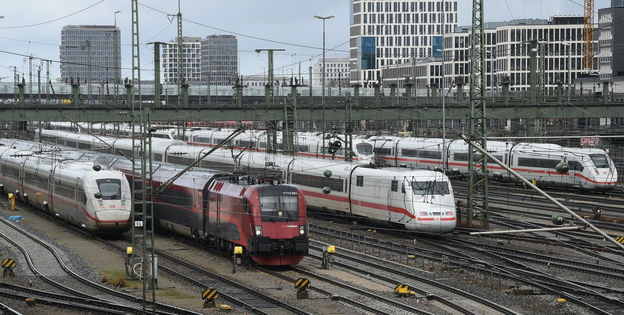 ICE-treinen nabij station München