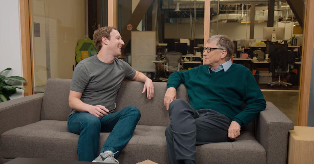 Mark Zuckerberg en Bill Gates
