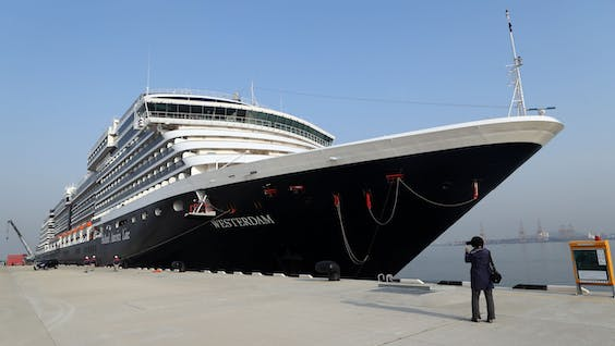 De Westerdam in de haven van het Zuid-Koreaanse Incheon