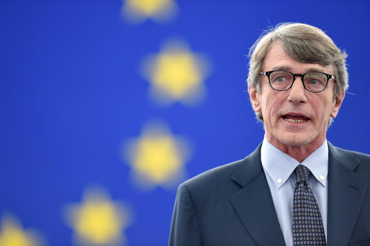 De nieuwe voorzitter van het Europees Parlement, David-Maria Sassoli.