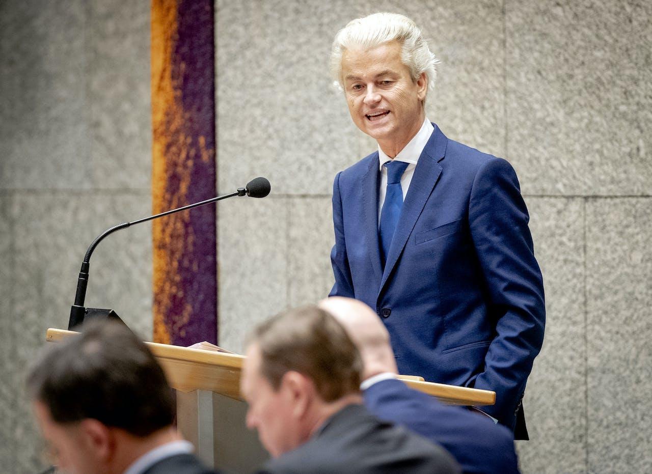 DEN HAAG - Geert Wilders (PVV) tijdens het debat in de Tweede Kamer over de bestrijding van het coronavirus. ANP SEM VAN DER WAL