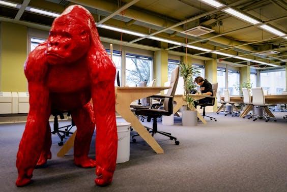 Zzp'ers werken in de kantoortuin van De Stadstuin in Utrecht