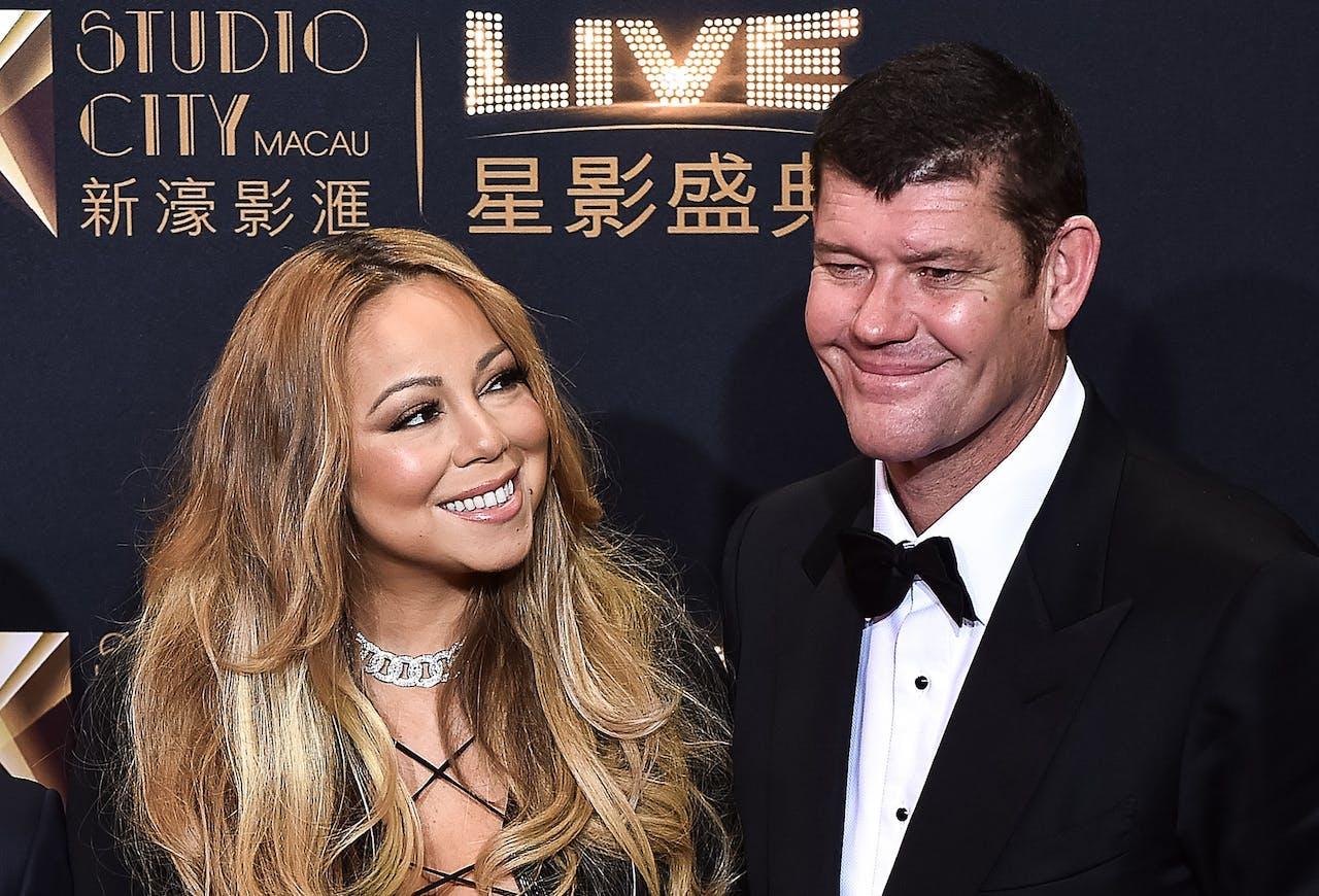 Mariah Carey en James Packer in betere tijden