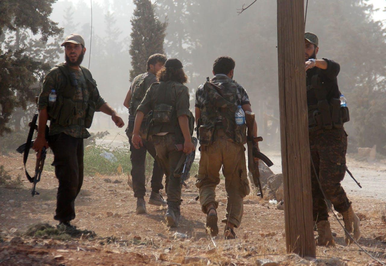 Strijders van al-Nusra in Aleppo (2016)