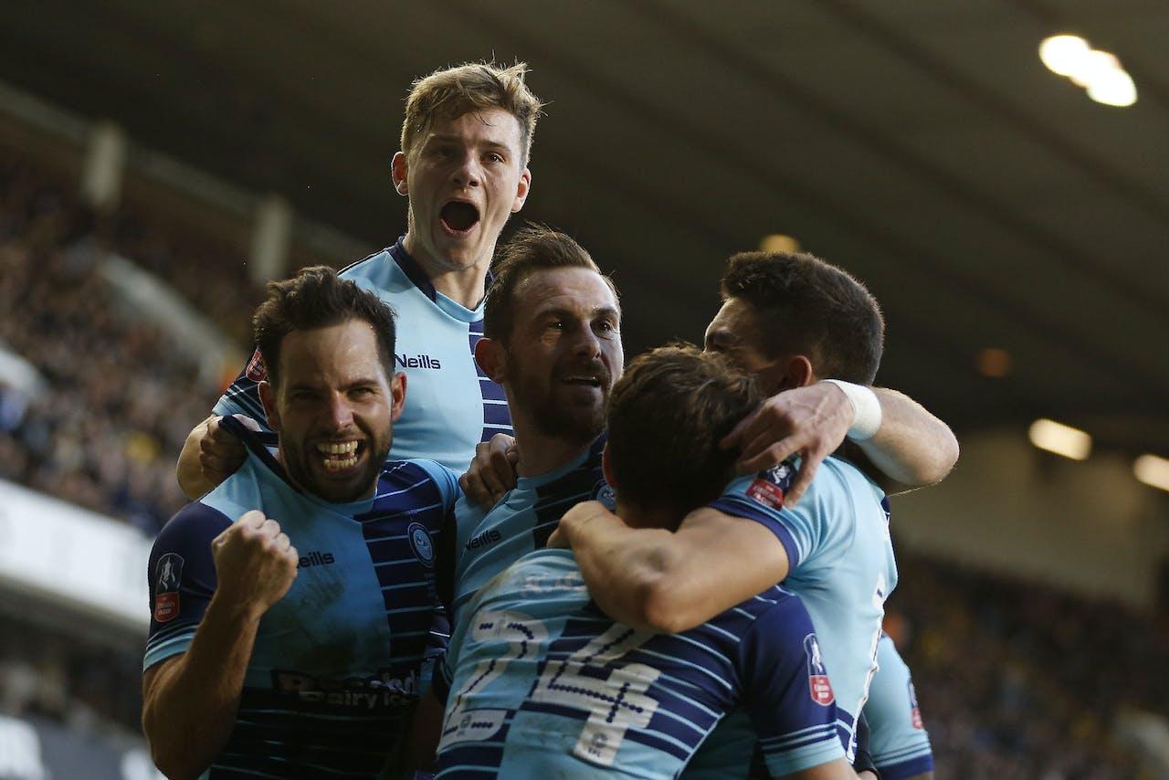 Wycombe Wanderers in 2017 in de vierde ronde van de FA Cup tegen Tottenham Hotspur.