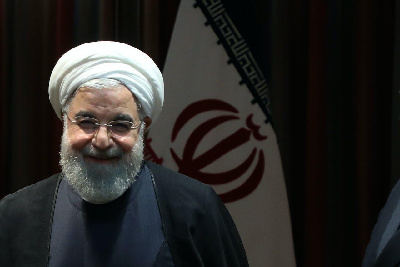 De Iraanse president Hasan Rohani
