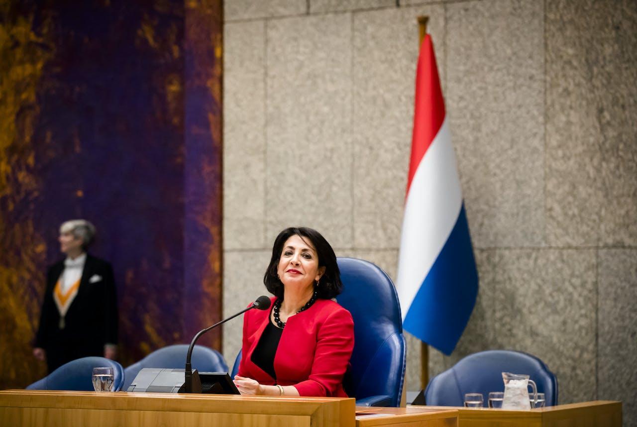 Nederlandse vlag in Tweede Kamer
