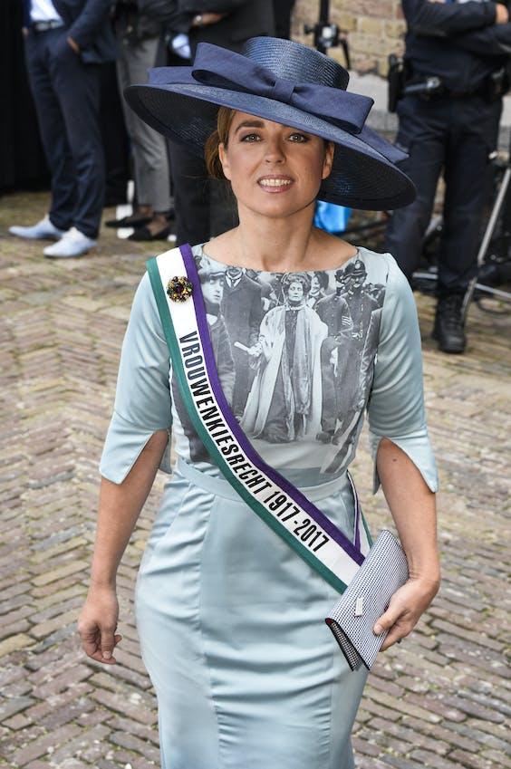 Marianne Thieme heeft als altijd een outfit met een boodschap.