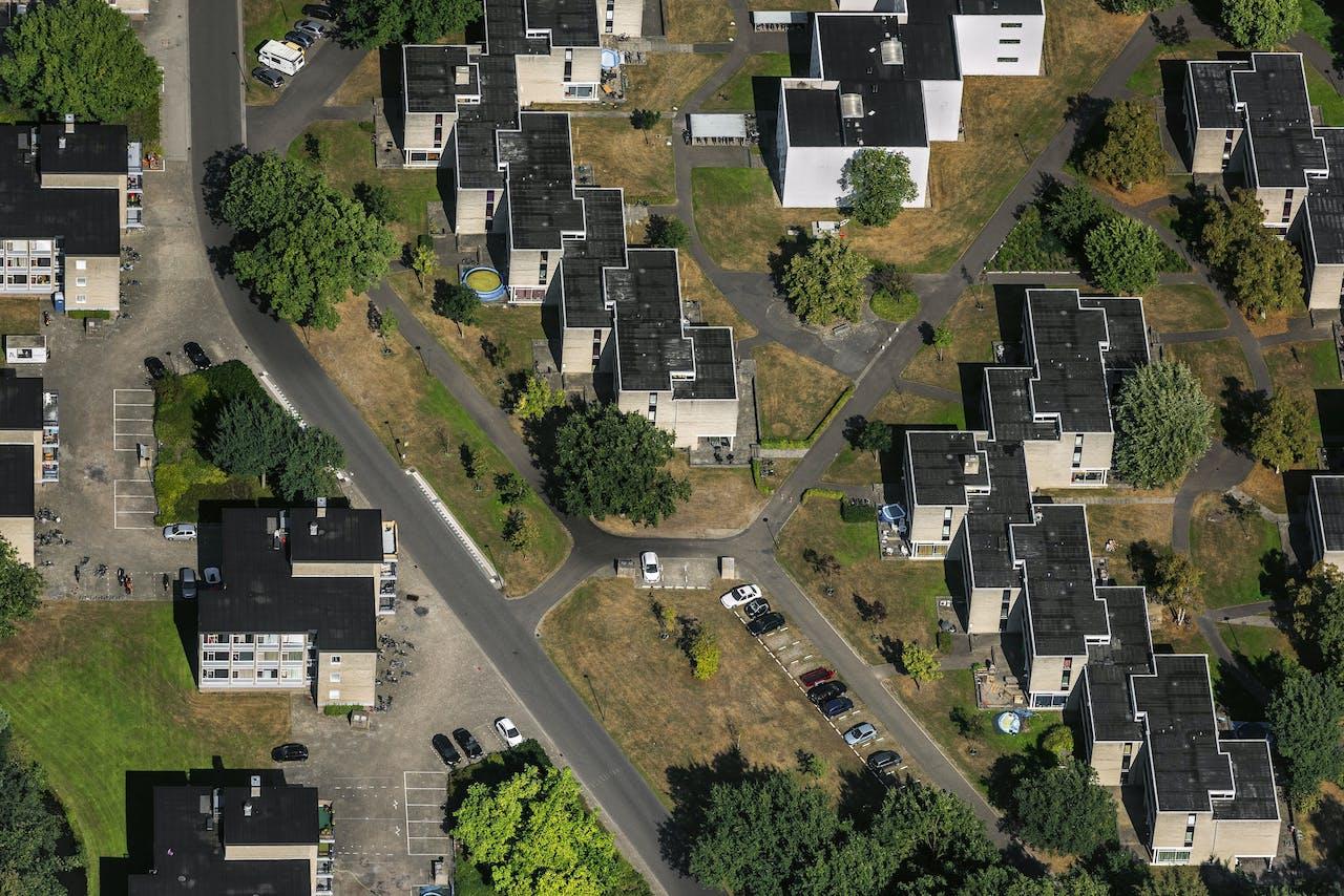 Luchtfoto van de University of Twente