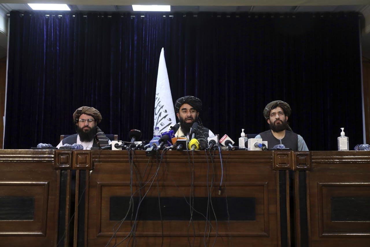 Talibanwoordvoerder Zabihullah Mujahid