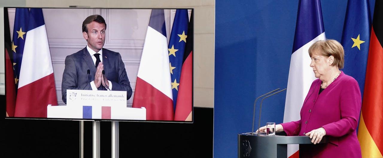 Merkel en Macron