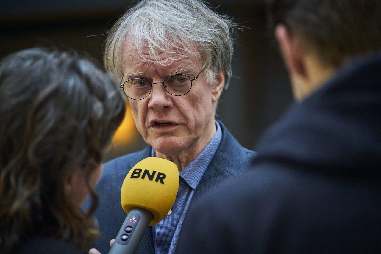 Gjalt Jellesma, voorzitter van Ouderorganisatie Boink, na afloop van een gesprek van minister Wopke Hoekstra.