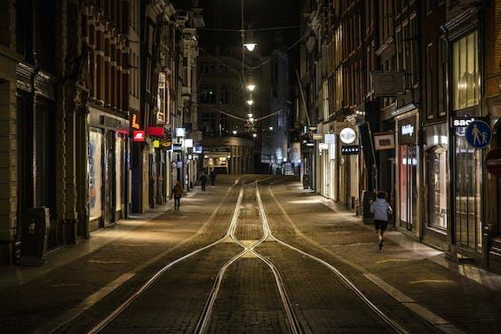 De Leidsestraat in Amsterdam