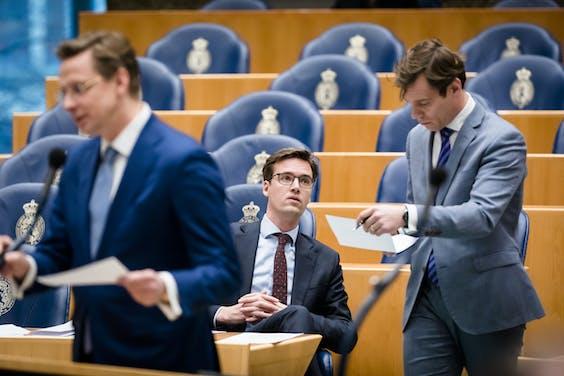Sjoerd Sjoerdsma (D66) en Martijn van Helvert (CDA)