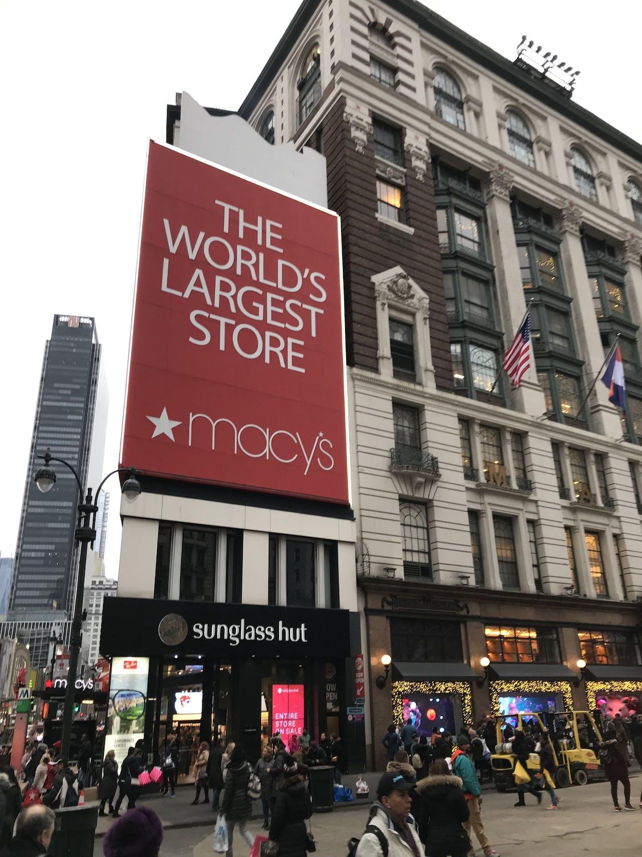 Het warenhuis van Macy's in New York