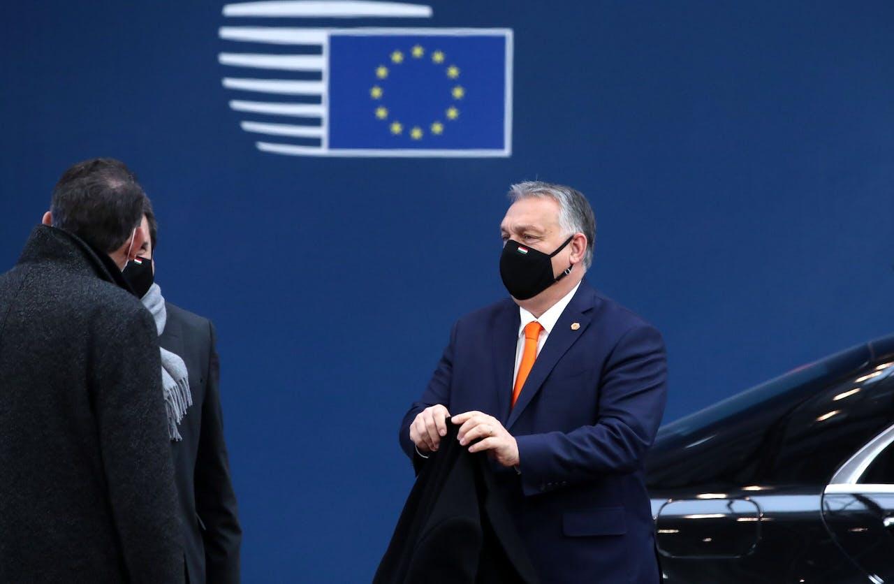 De Hongaarse premier Viktor Orban in Brussel. YVES HERMAN / POOL